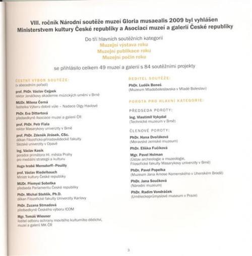 Ocenění muzea v Národní soutěži