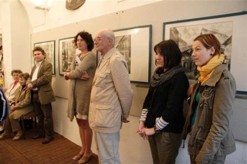 2.7.2011 Venisáž výstavy (NE)VIDITELNÝ ARCHITEKT - Jiří Hlupý