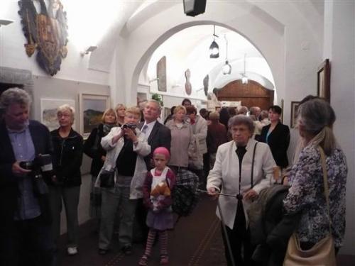 30.8.2011 Vernisáž výstavy OBRAZY PRO RADOST - Božena Jerieová