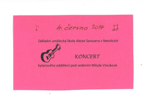 4. 6. 2014 Absolventský koncert ZUŠ A. Sarauera v Netolicích