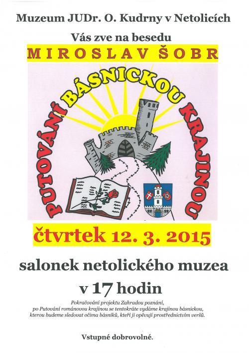 12. 3. 2015 M. Šobr - Putování básnickou krajinou