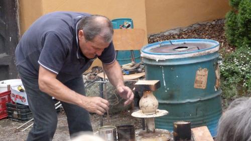 ukázka pálení keramiky
