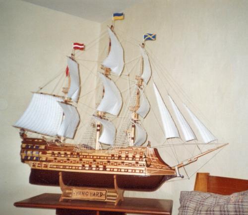 František Horáček - model historické plachetnice