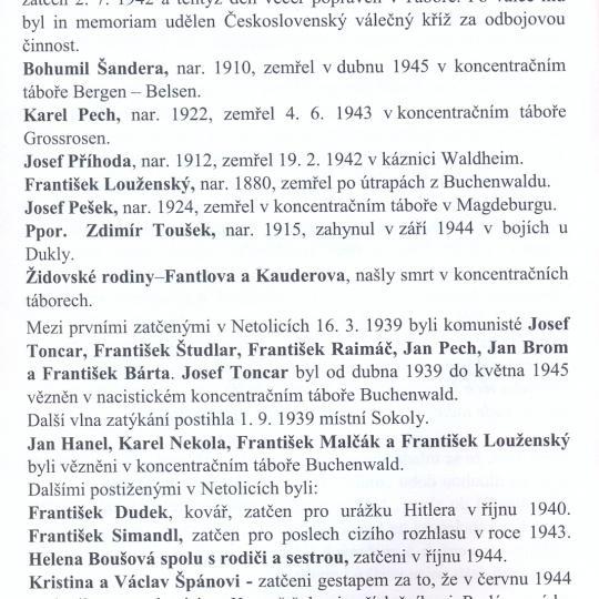 Oběti 2. světové války1939-1945str. 4 z publikace Vzpomínky