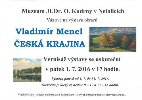 plakátek V. Mencl