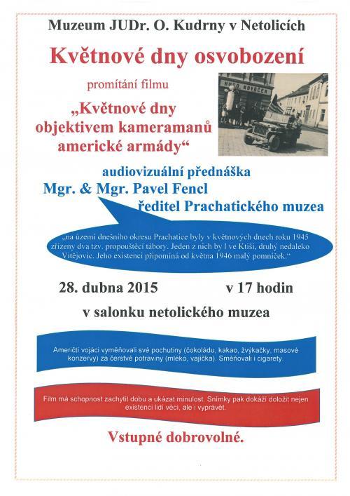 28. 4. Přednáška P. Fencl - Květnové dny osvobození